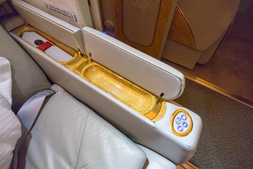 Emirates 777 First Class small pocket