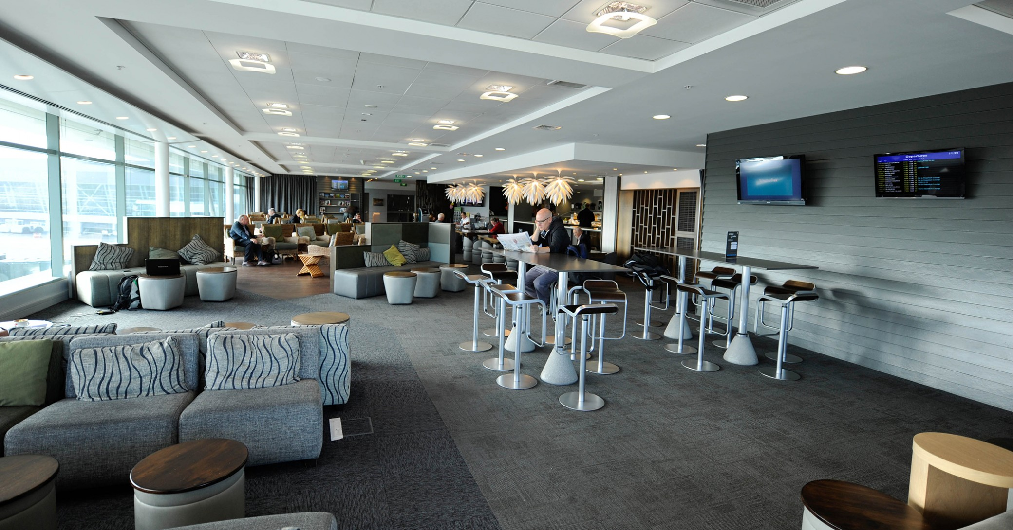 Air New Zealand's domestic lounge in Wellington