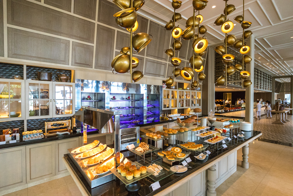 The St. Regis Maldives Vommuli Resort breakfast buffet