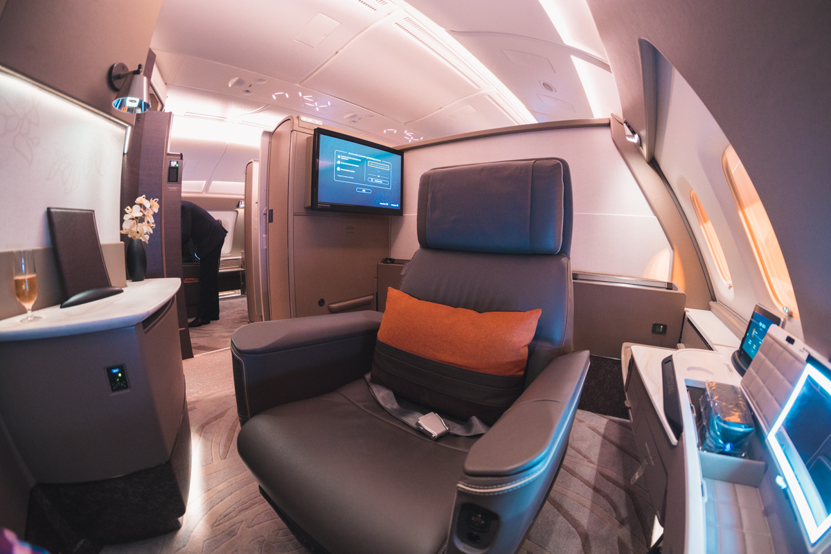 Singapore Airlines new Suites Class seat