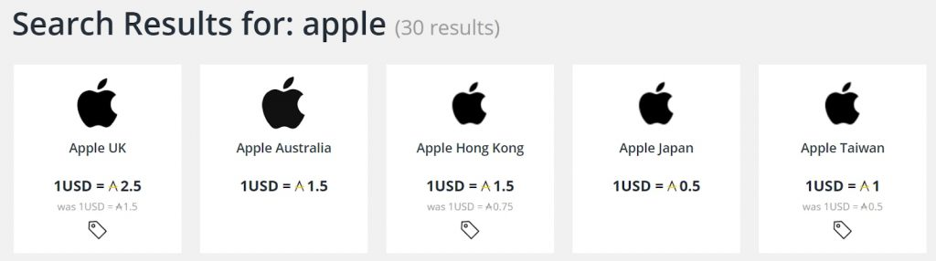 Asia Miles iShop - Apple region