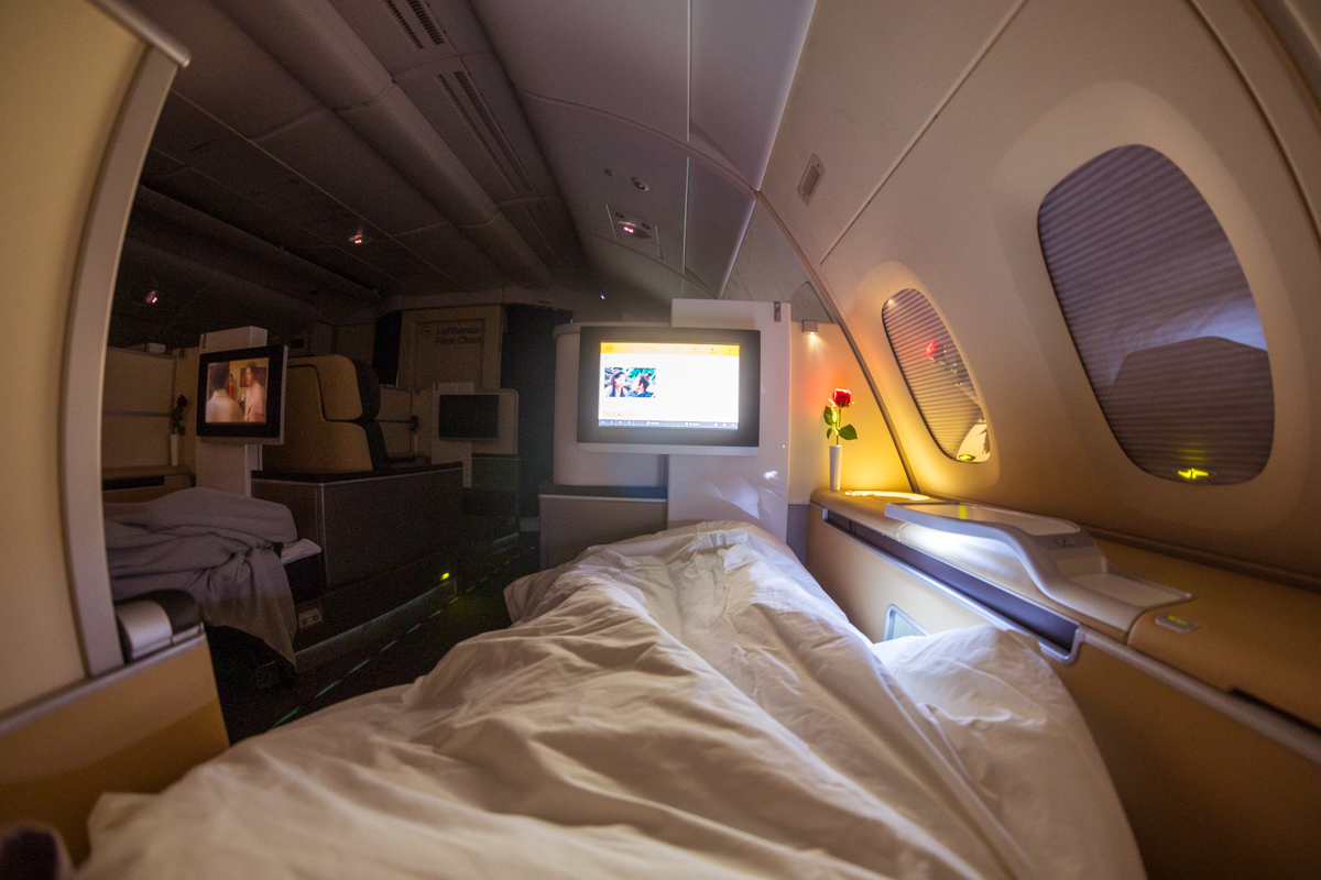 Lufthansa A380 First Class inflight entertainment