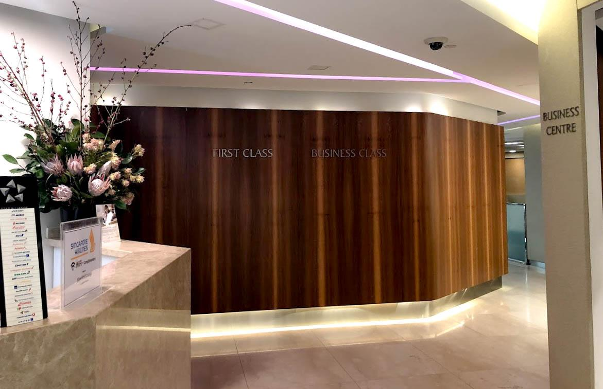 SilverKris Business Class Lounge Melbourne entrance