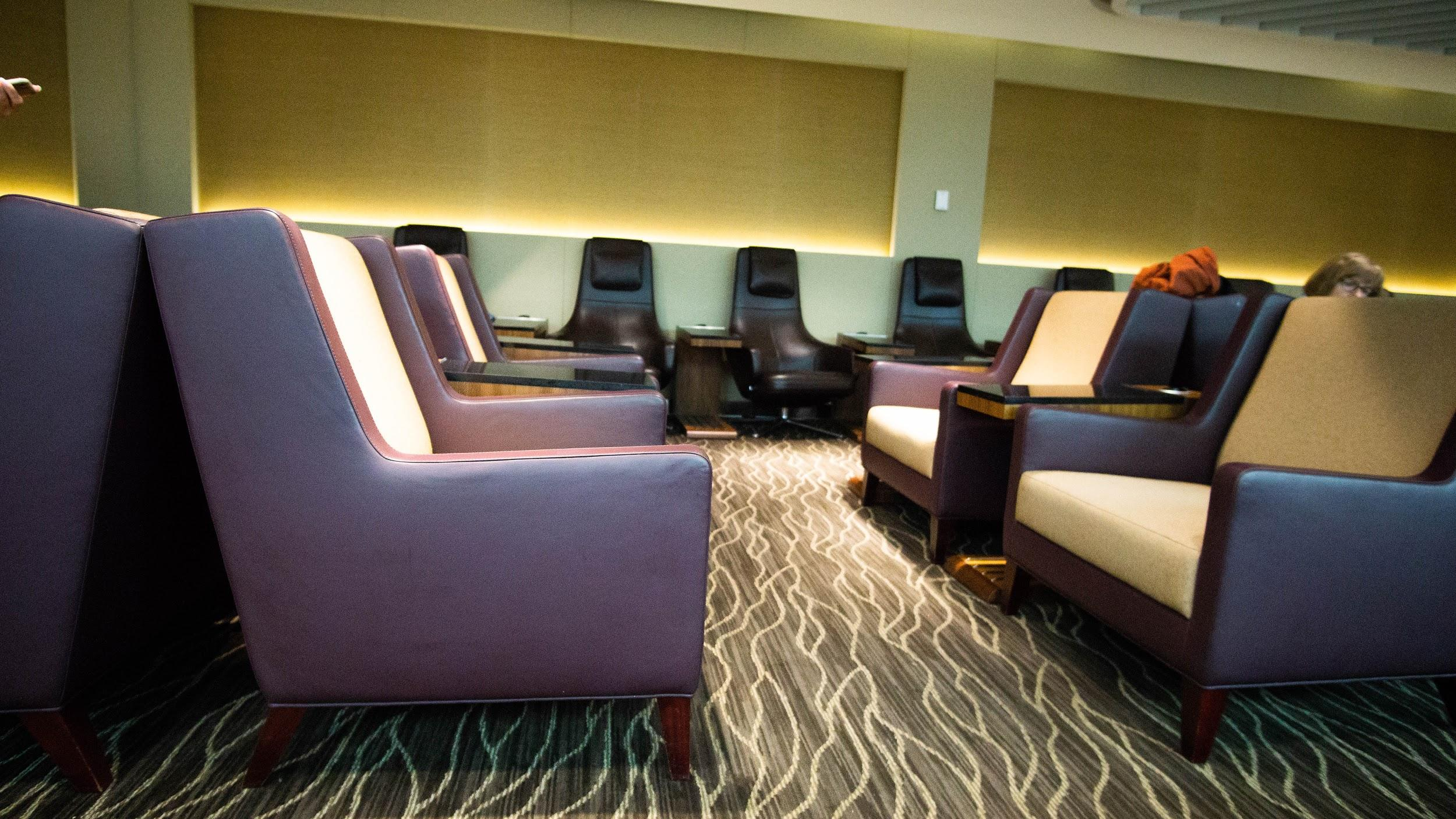 SilverKris Business Class Lounge Melbourne seating area