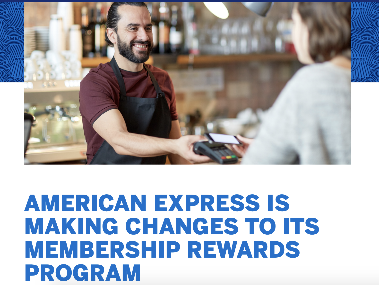 AMEX note to card members