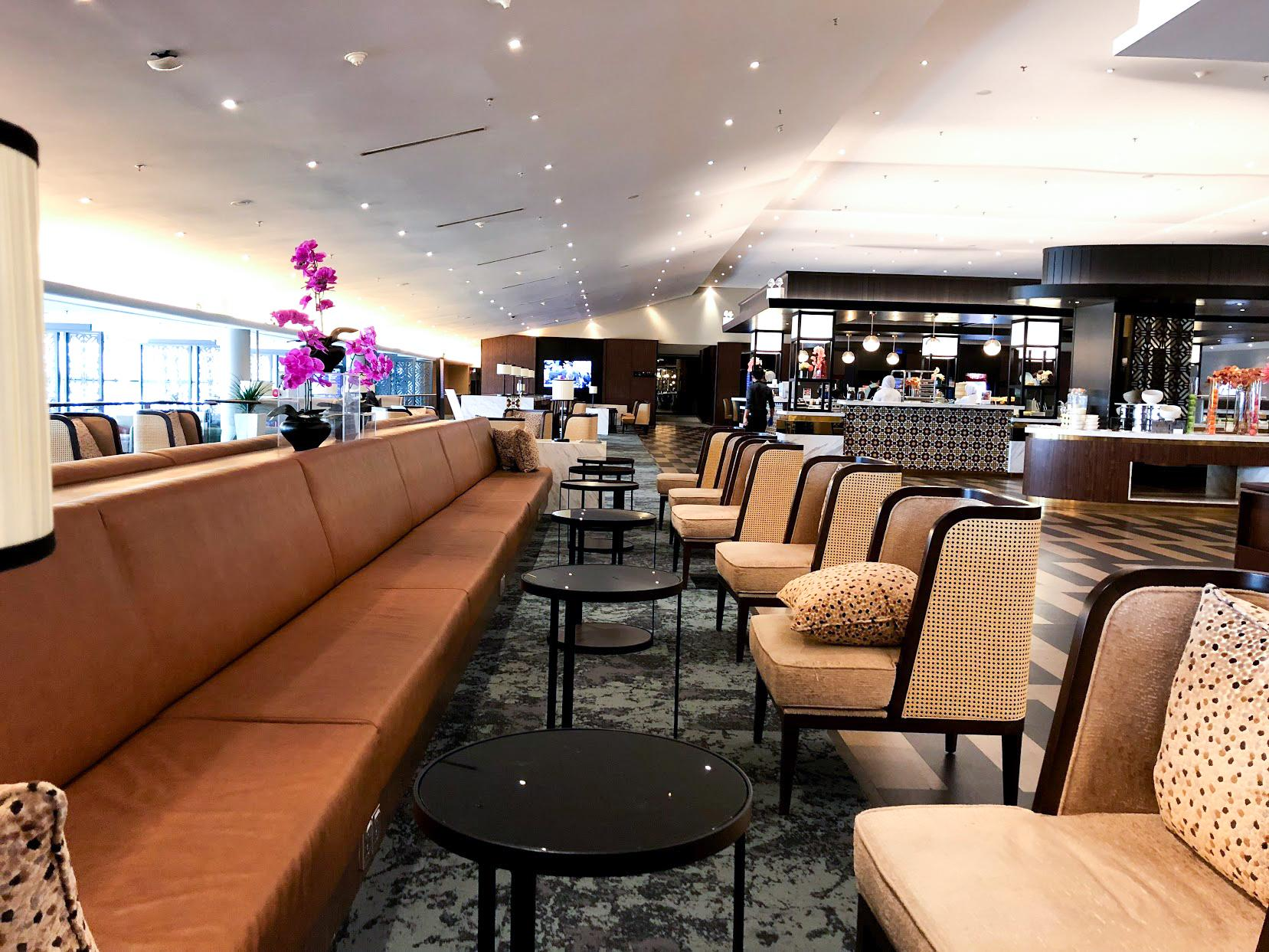 Malaysia Airlines Satellite Golden Lounge Kuala Lumpur seating area