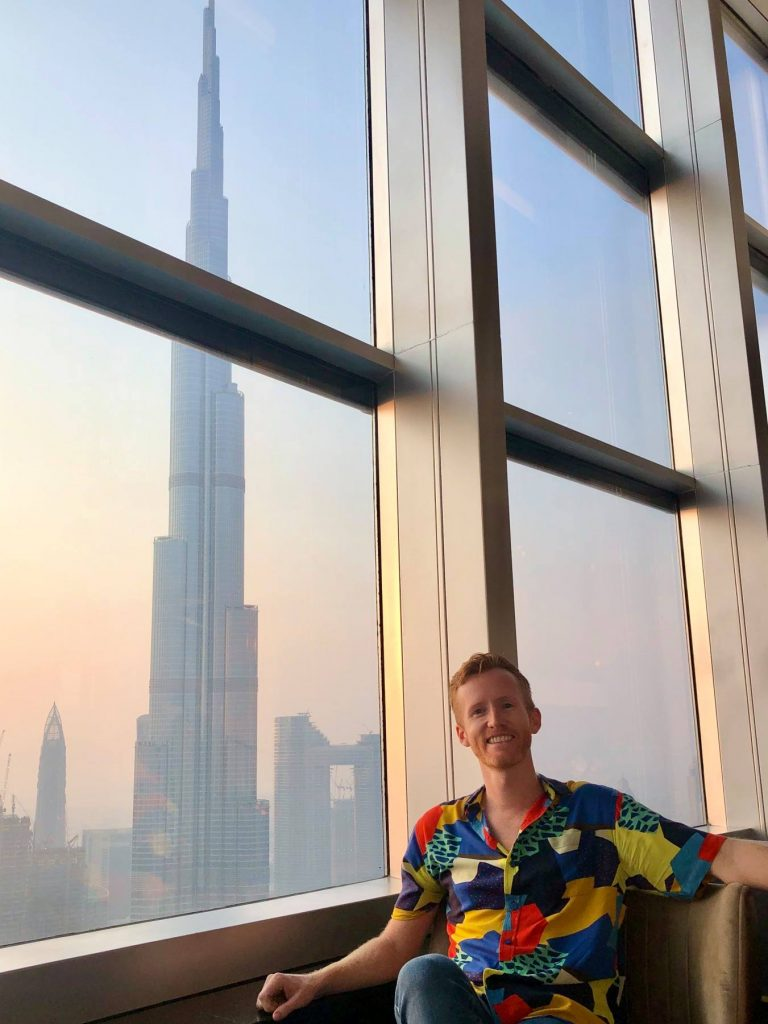 Matt at Burj Khalifa