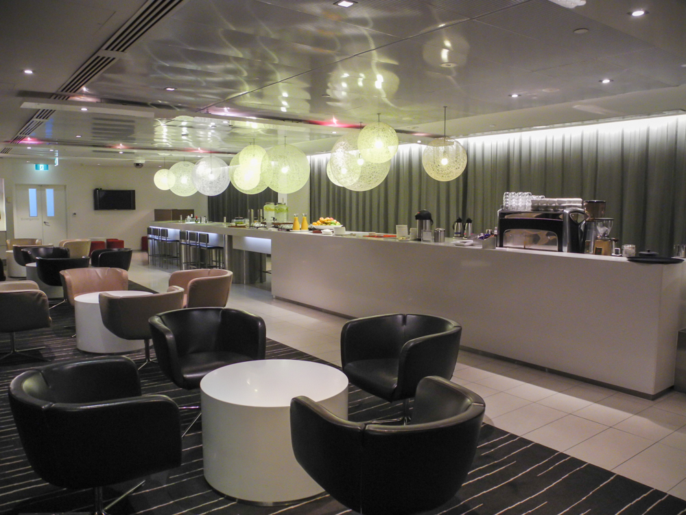 Qantas International Business Lounge Melbourne seating area