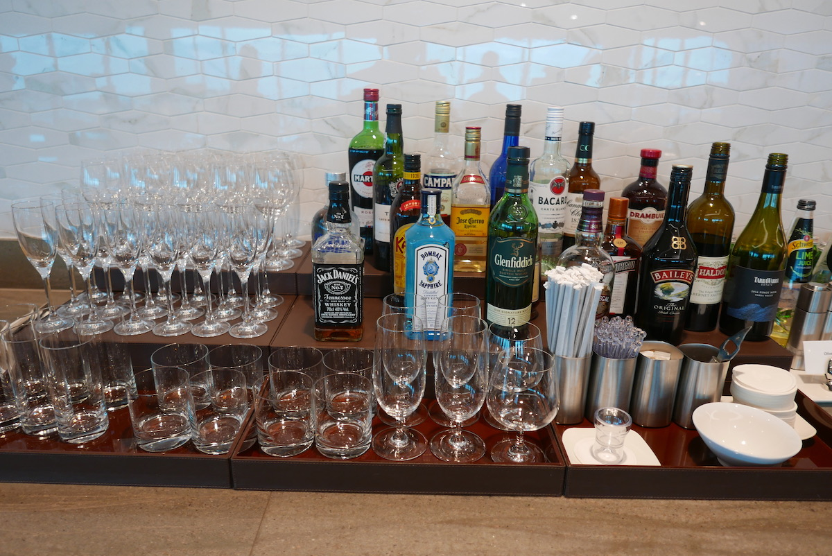 The Emirates Business & First Class Lounge Melbourne self-serve alcoholic beverage