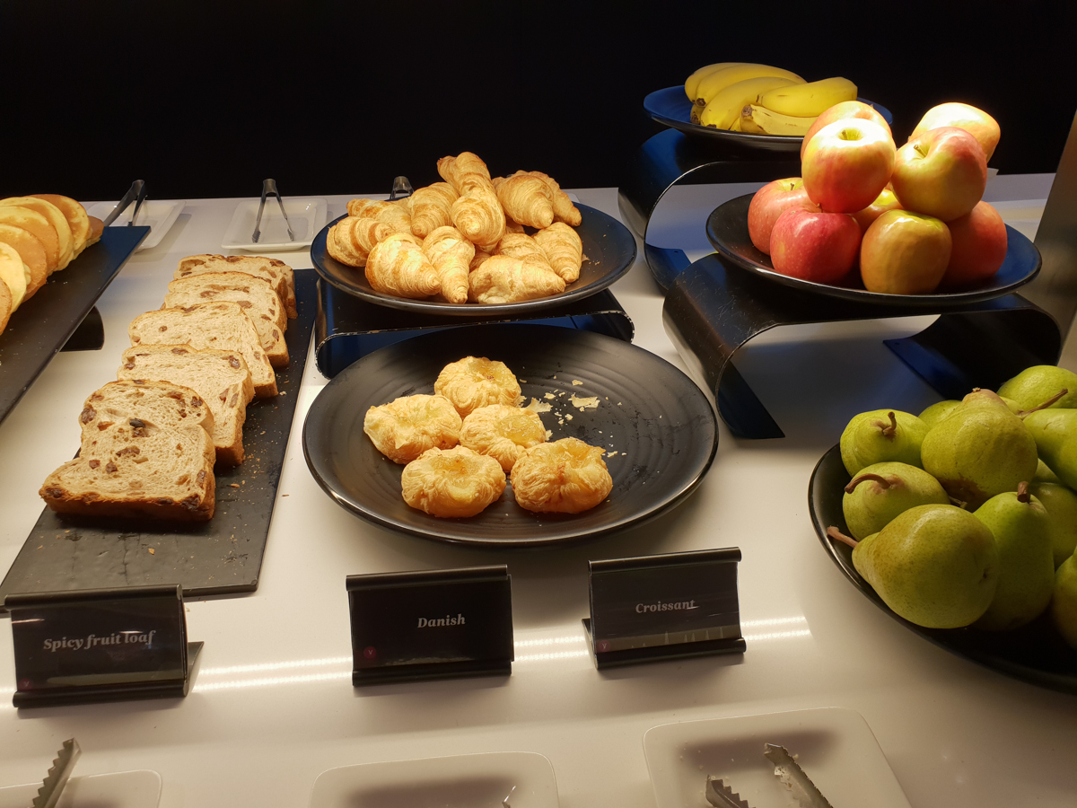 Air New Zealand Lounge breakfast pastry