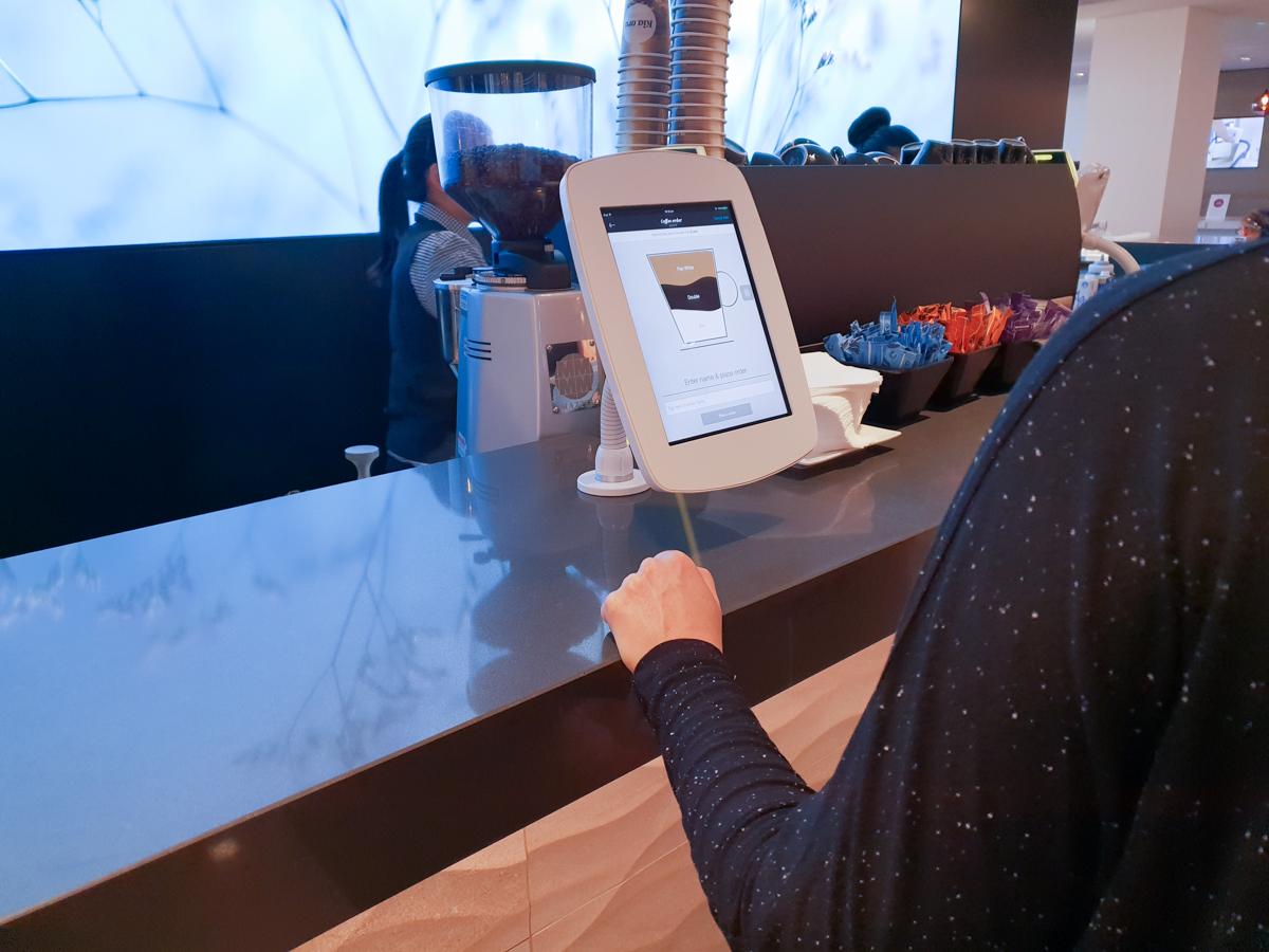 Air New Zealand Lounge barista counter smart pad