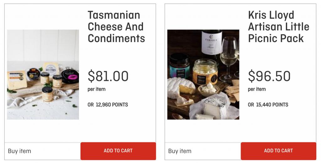Qantas Wine gourmet food