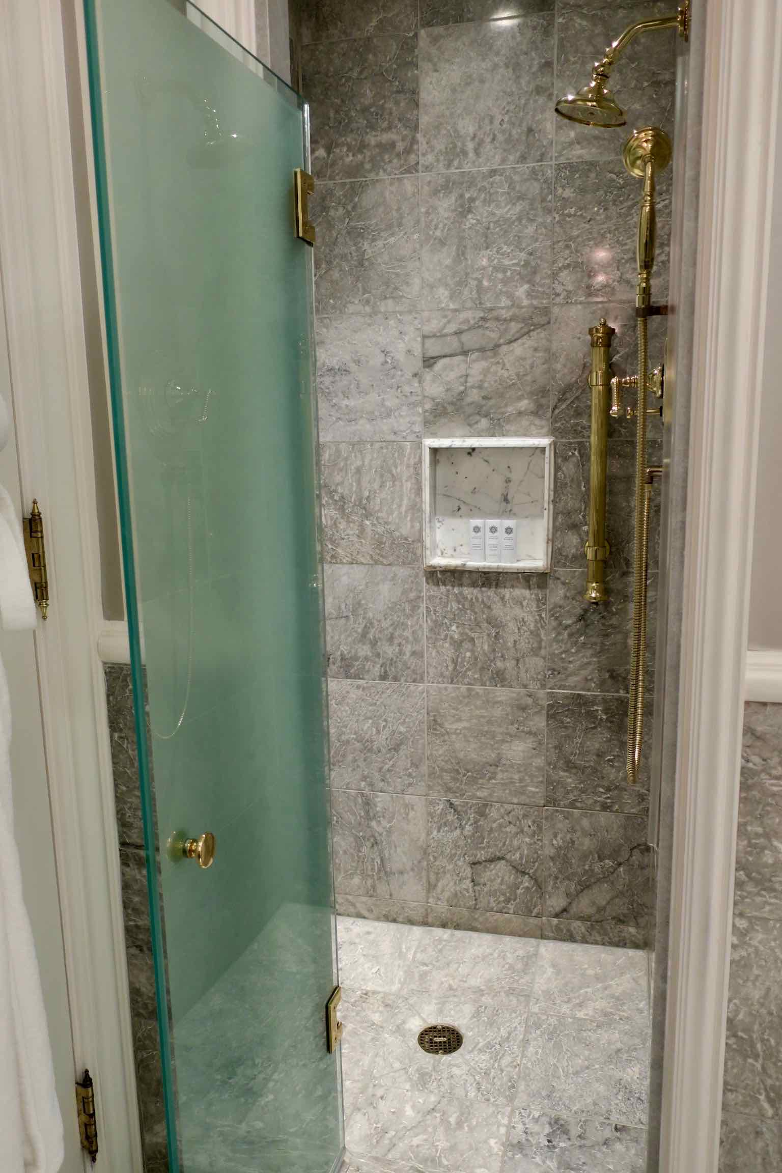 The St. Regis New York Superior Room shower
