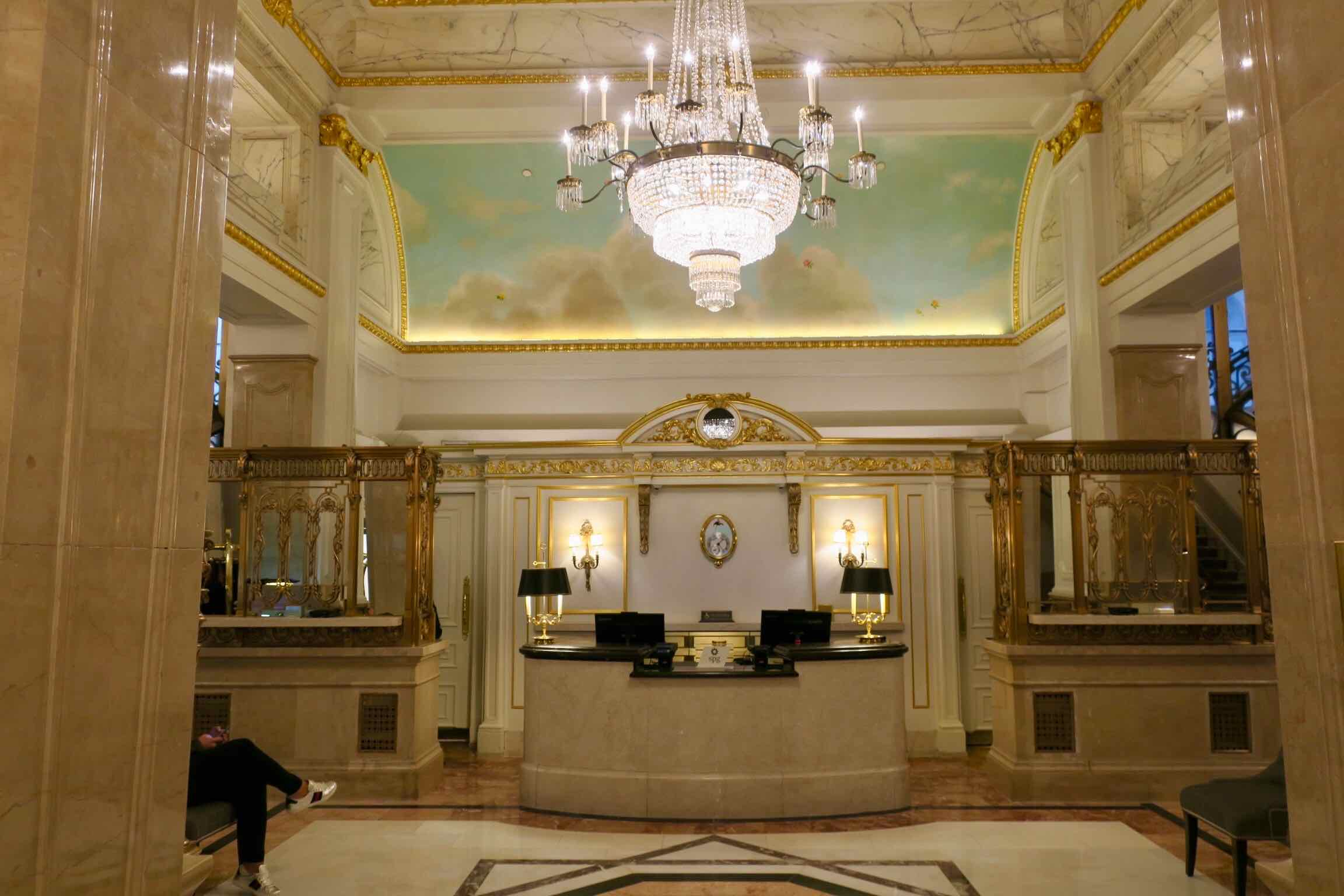 The St. Regis New York front desk