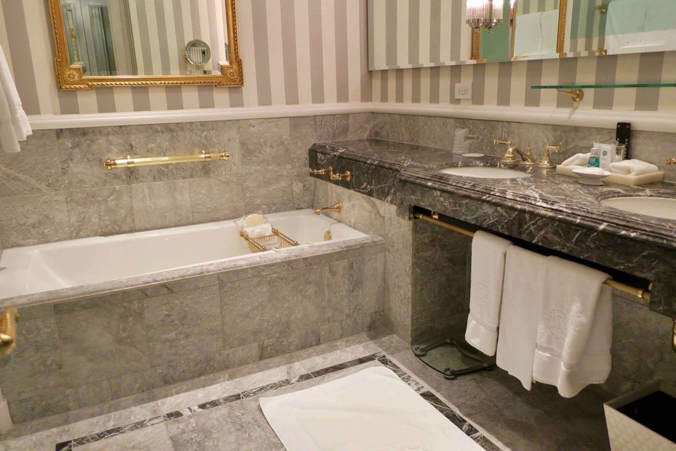 The St. Regis New York Superior Room bathroom