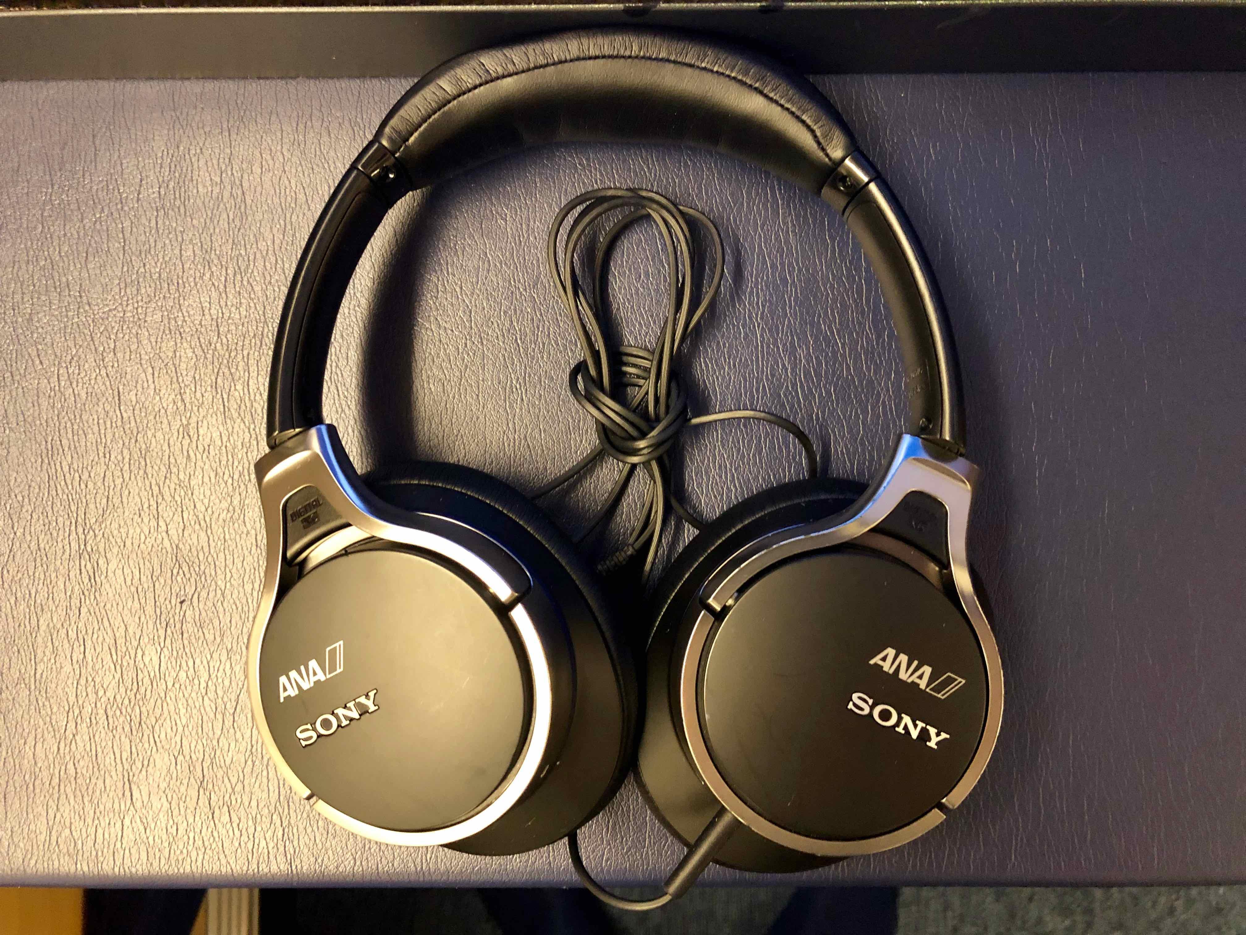 ANA 777 First Class headphones
