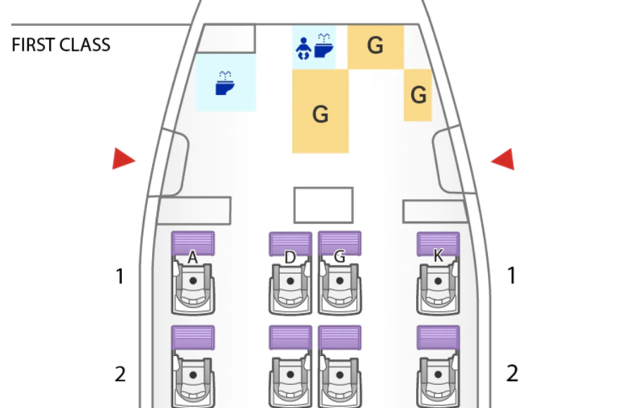 ANA First Class seat map