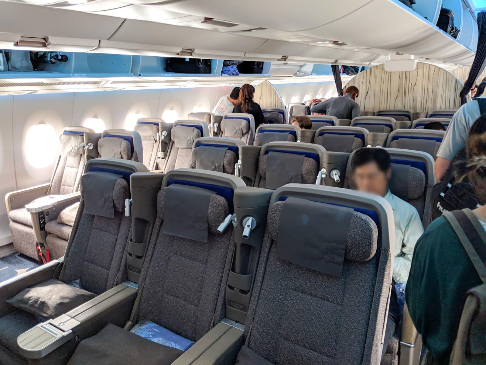 China Airlines Premium Economy centre block seat