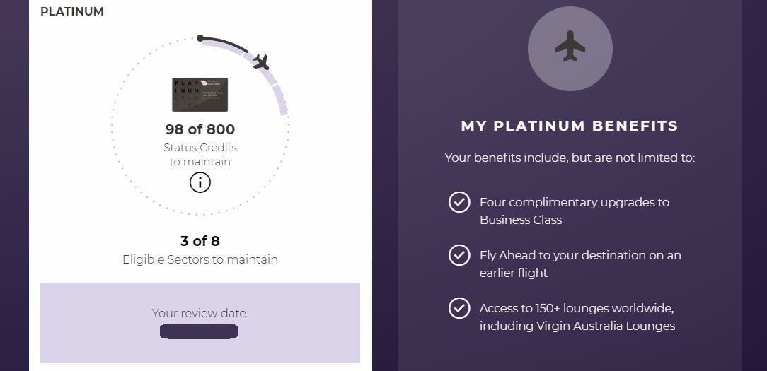Velocity Platinum Status
