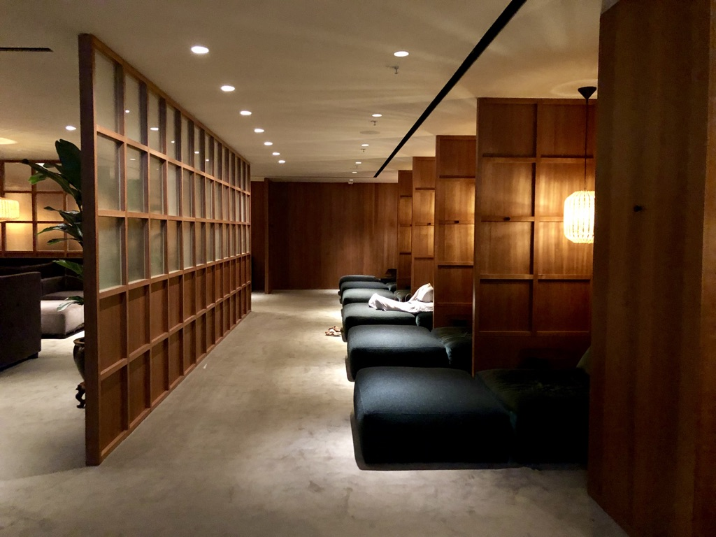 Cathay Pacific The Pier Business Class Lounge Hong Kong nap room