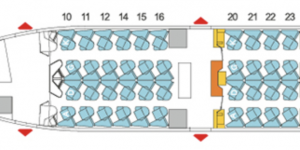 China Airlines 777-J Business Class seat map