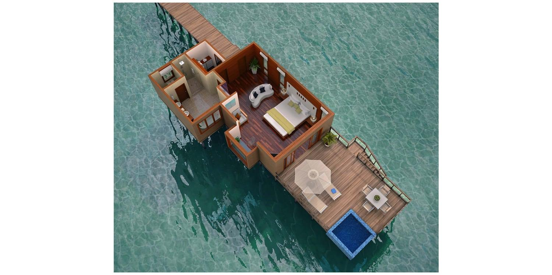 Conrad Rangali Maldives floor plan