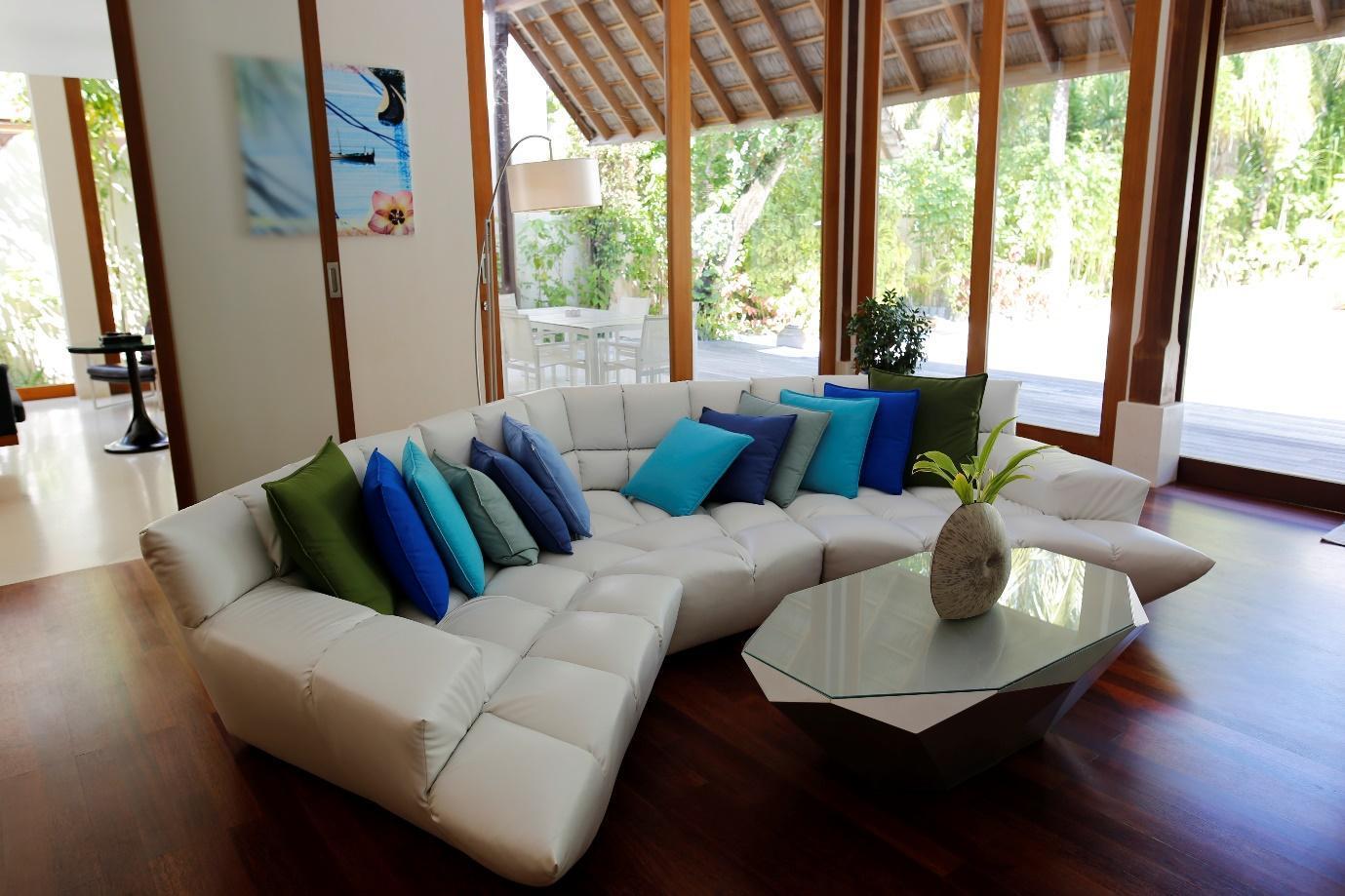 Conrad Rangali Maldives Beach Suite living area