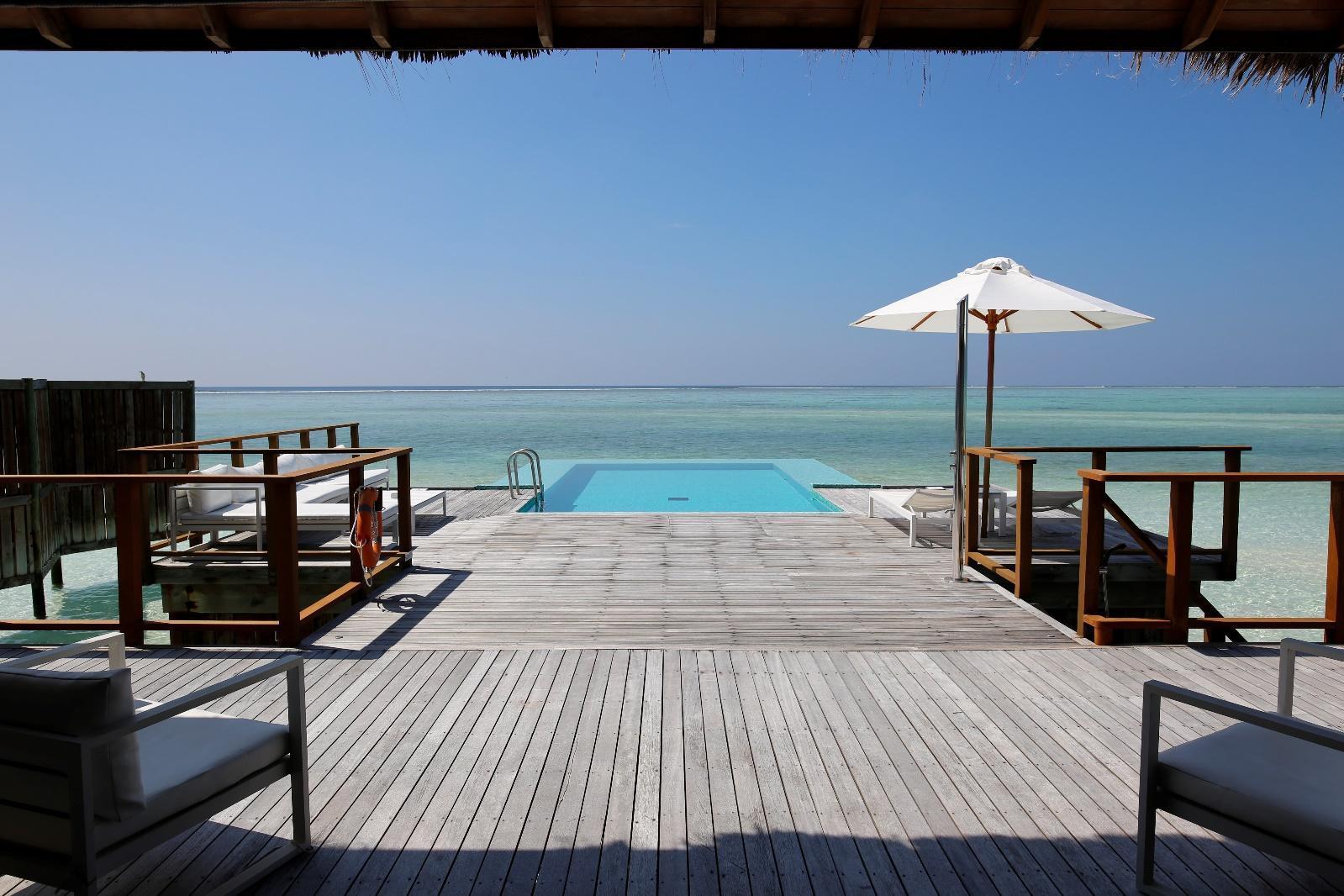 Conrad Rangali Maldives Sunset Water Villa sundeck