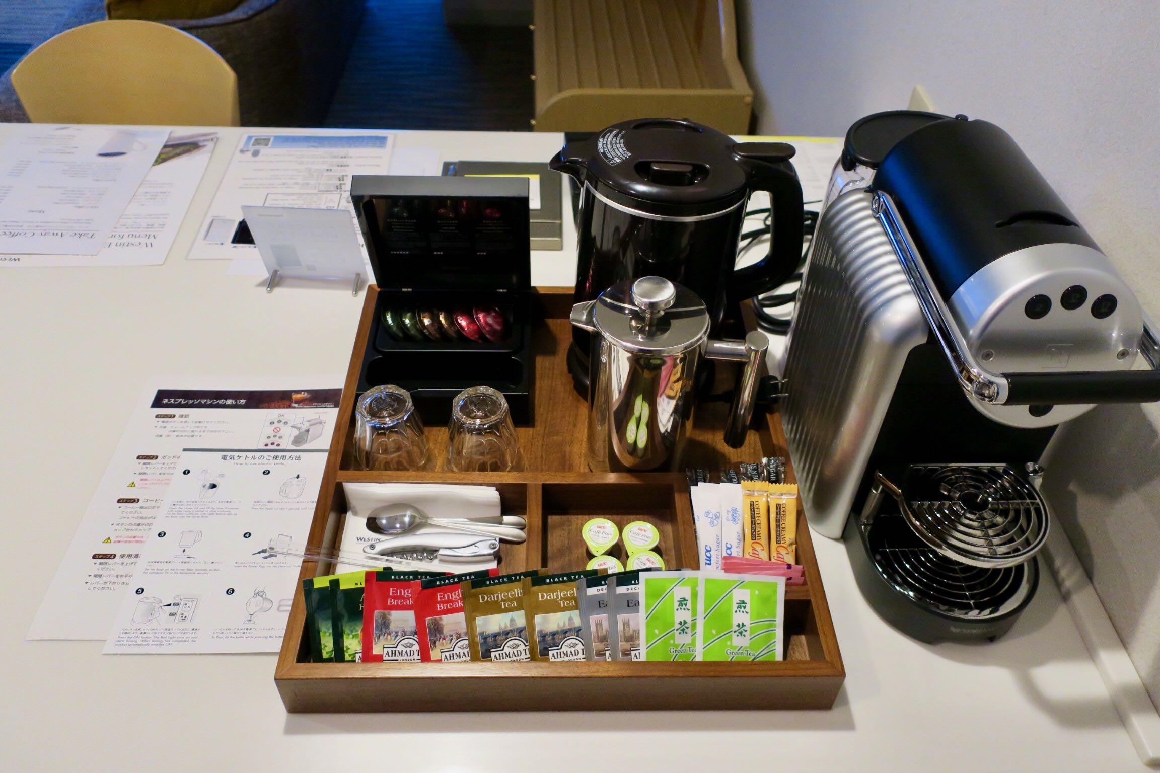 The Westin Rusutsu Resort Suite Room coffee machine