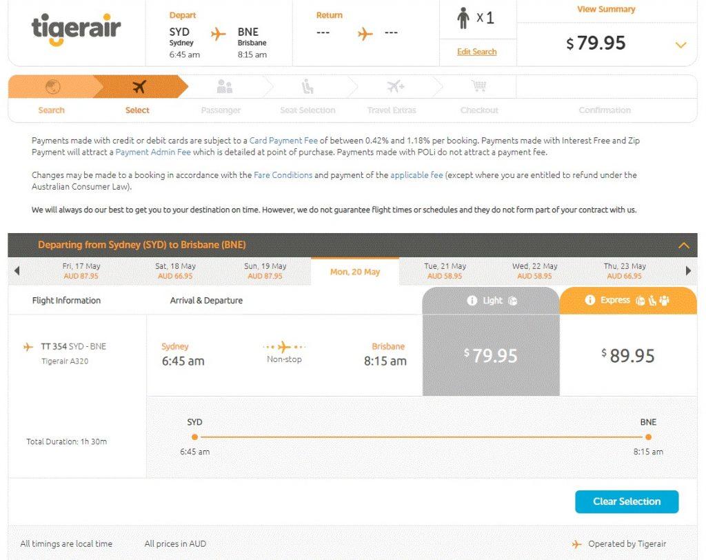 Full service vs low cost comparison