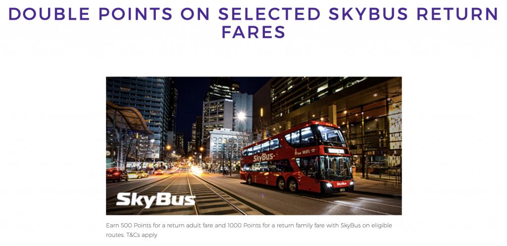 Velocity SkyBus April 2019 promo