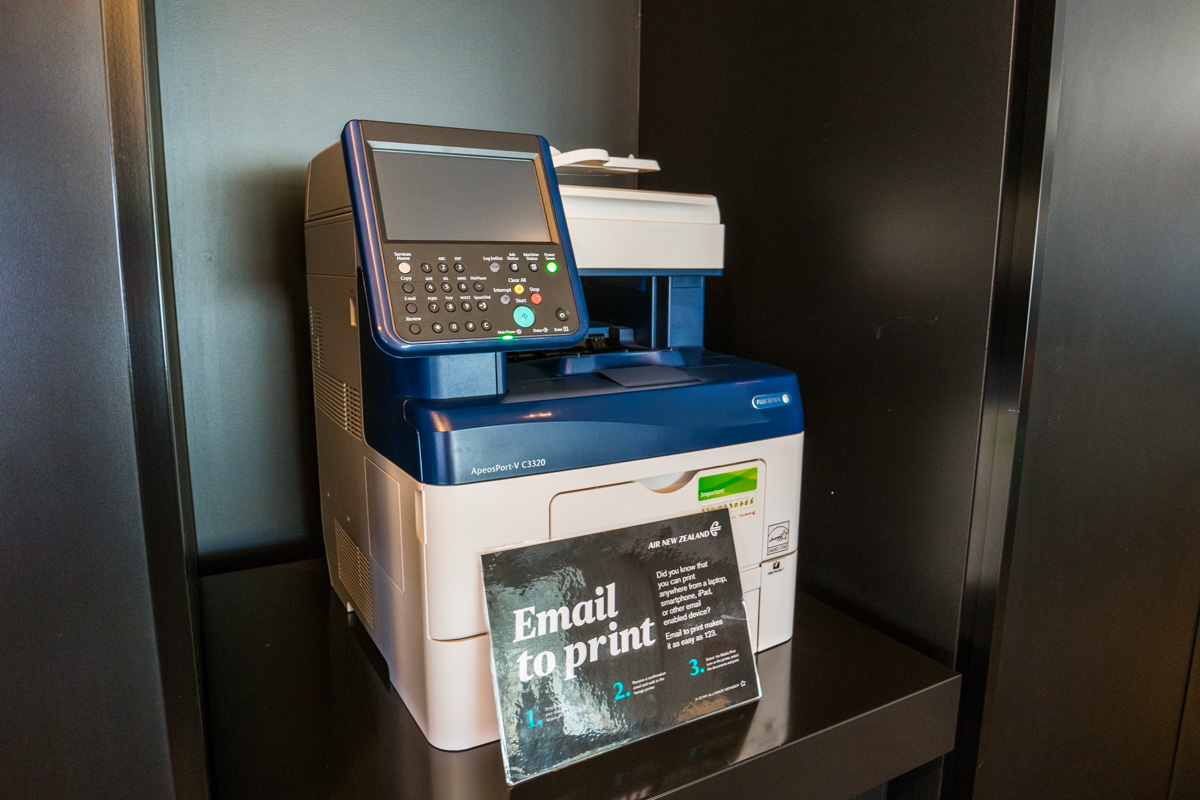 Air New Zealand Queenstown Lounge printer