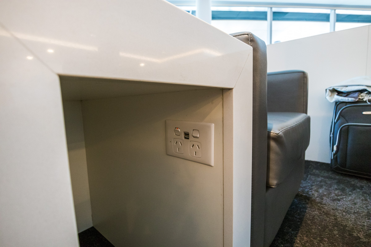 Air New Zealand Queenstown Lounge power outlets