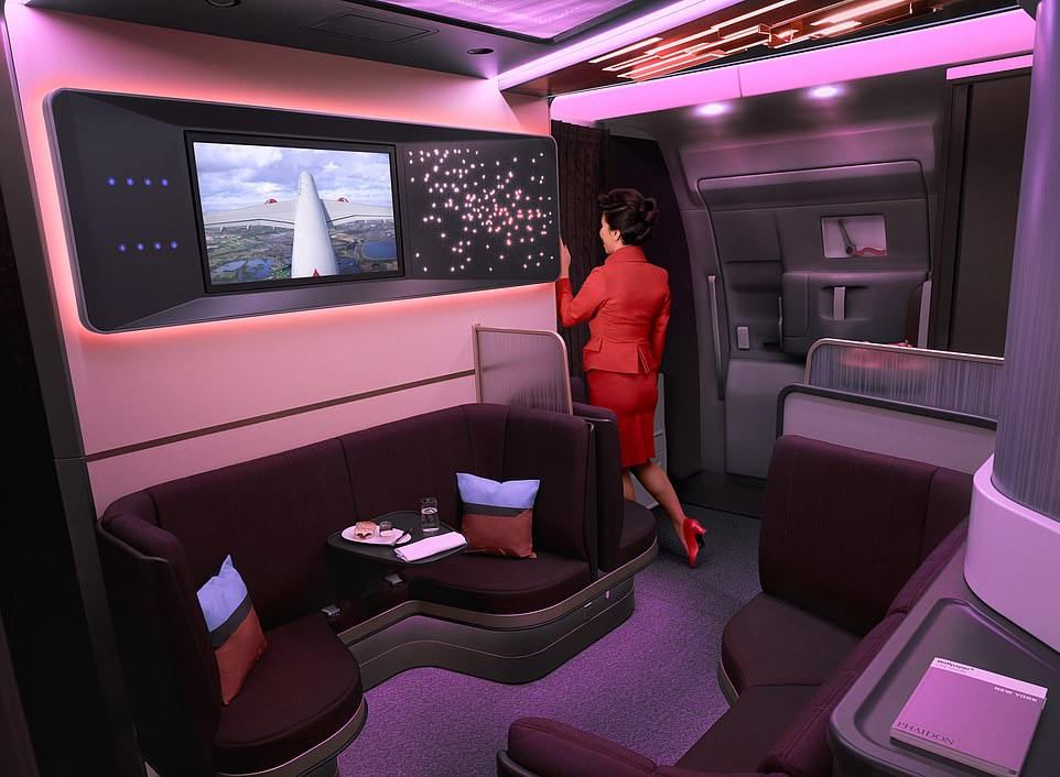 Virgin Atlantic A350 onboard bar