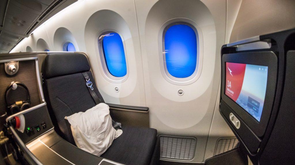 Qantas 787 Business Class