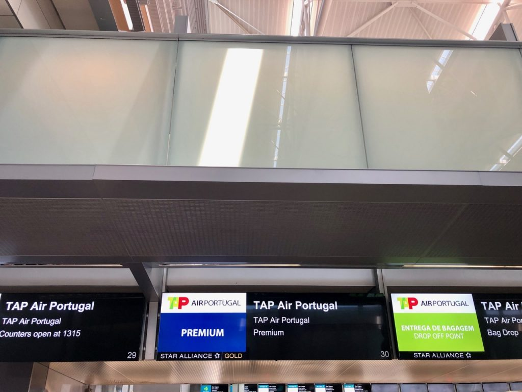 TAP Portugal A330neo Business Class check-in
