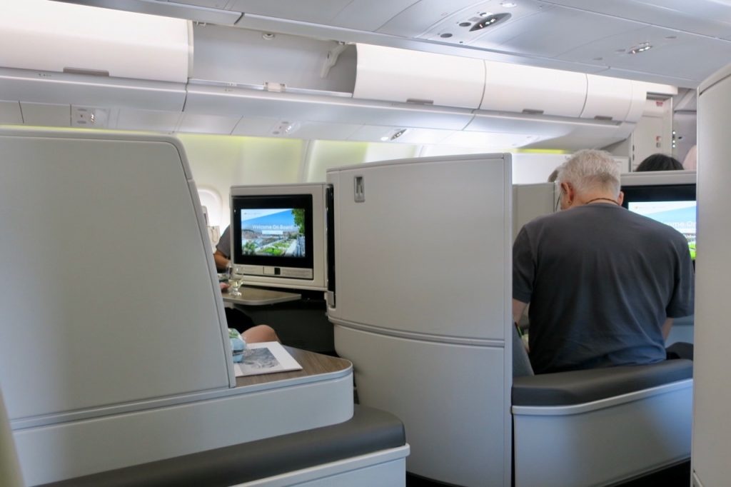 TAP Portugal A330neo Business Class centre seats
