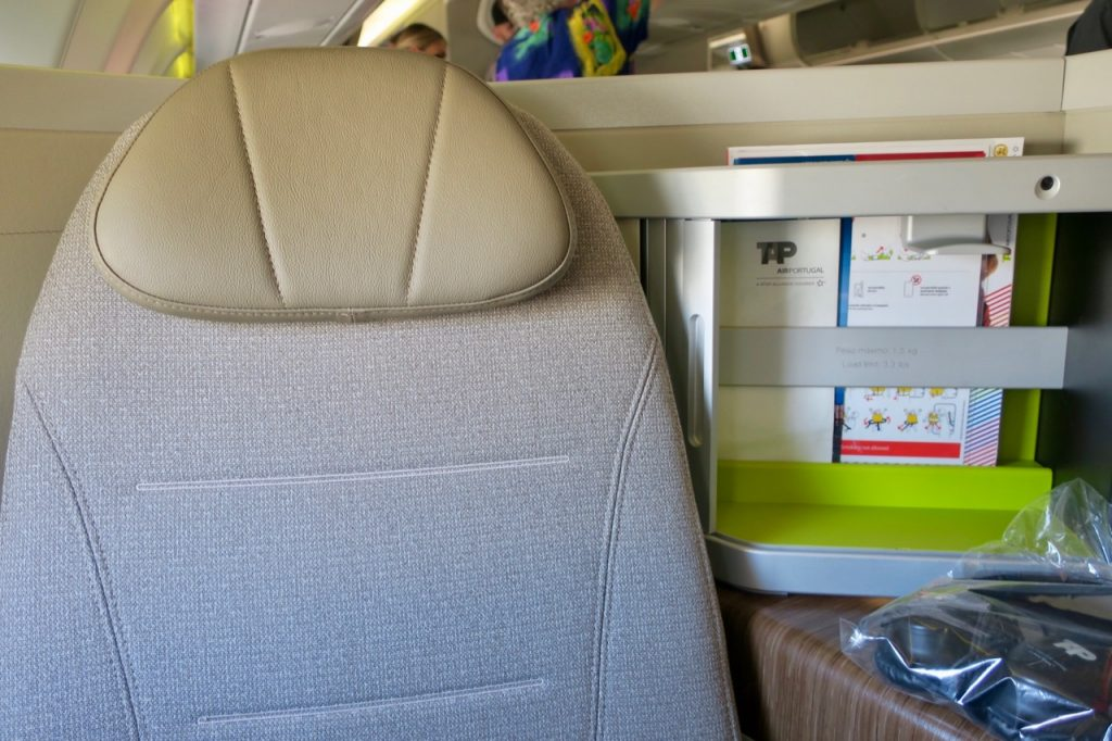TAP Portugal A330neo Business Class seat