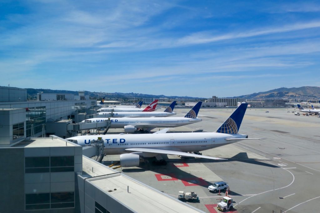 United Polaris Lounge SFO tarmac view