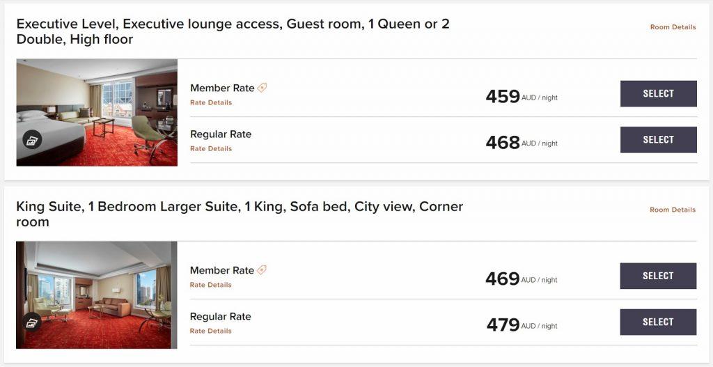 Marriott Melbourne Rates