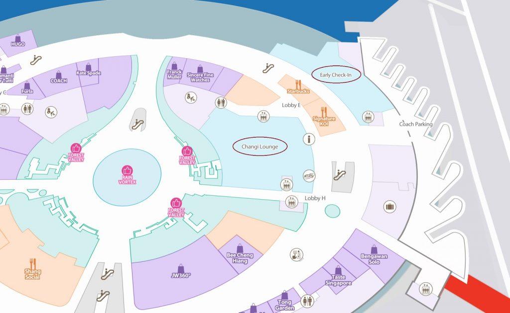 Changi Lounge Jewel Singapore Map