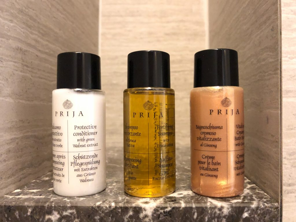 Changi Lounge Jewel Singapore bathroom amenities