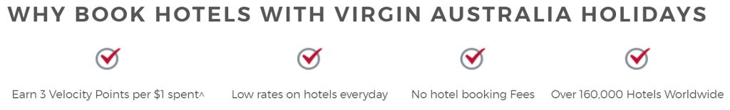 Earning more Velocity Points - VA Hotels