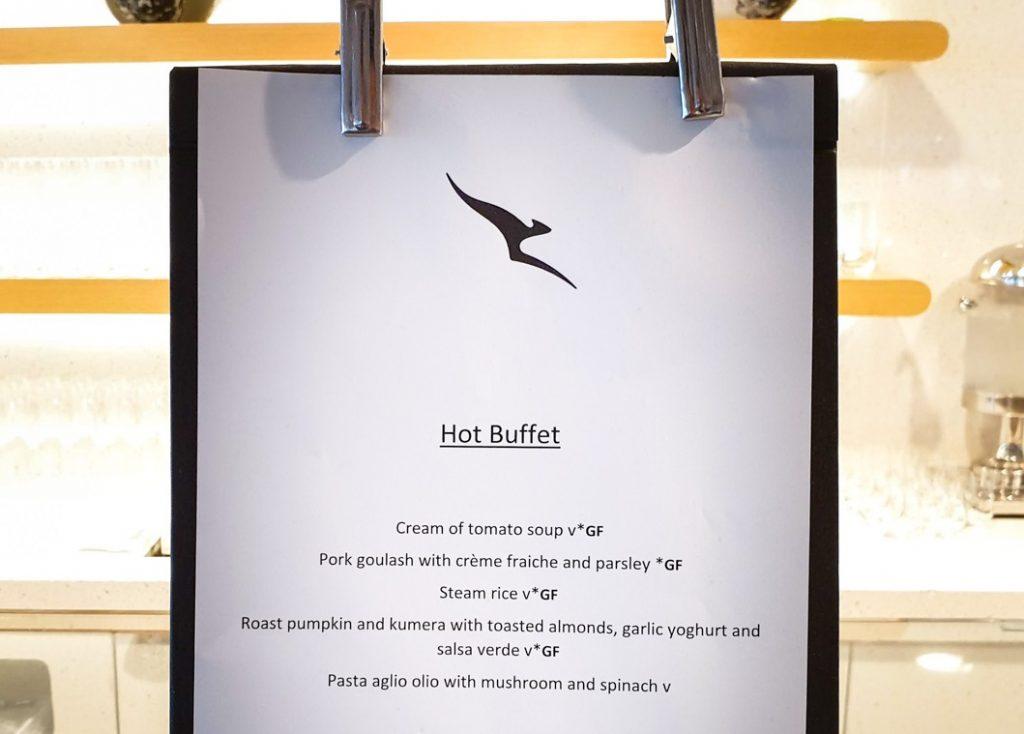 Qantas Singapore Lounge buffet