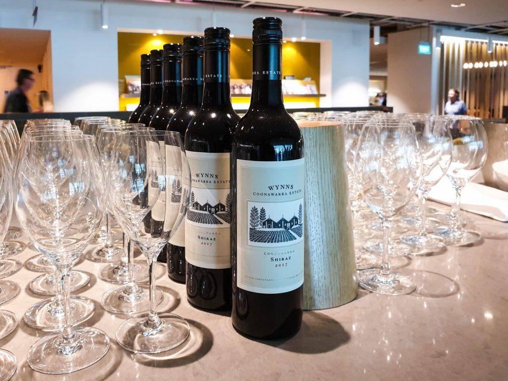 Qantas Singapore Lounge wine 2