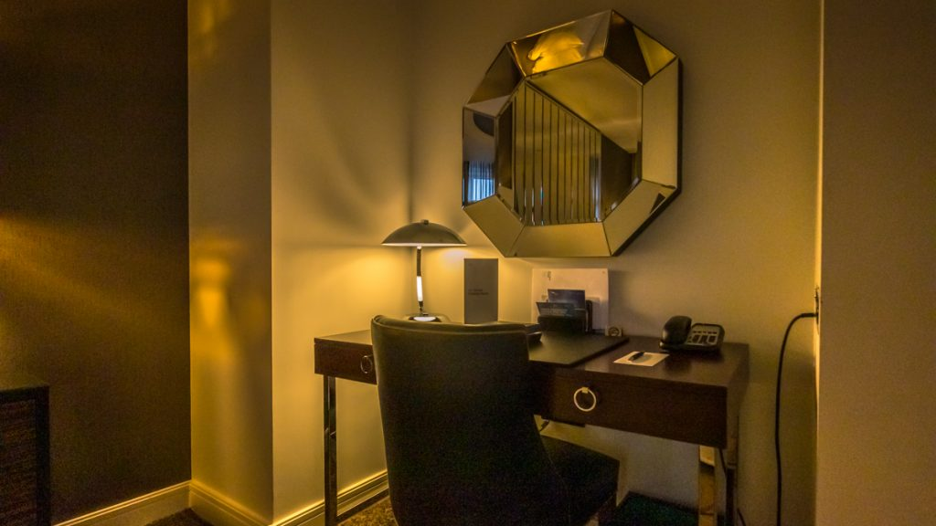 Sheraton Grand London Park Lane in-room work desk