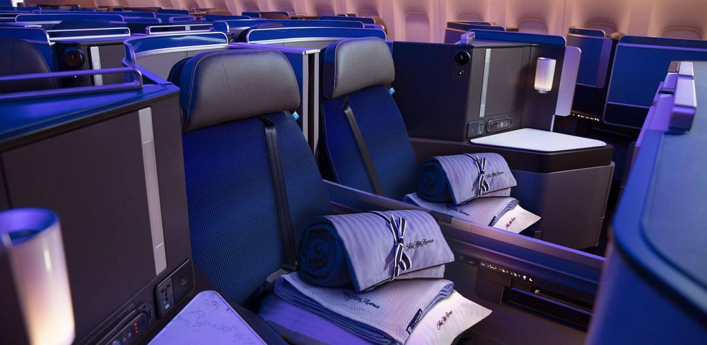 United Polaris Business Class cabin