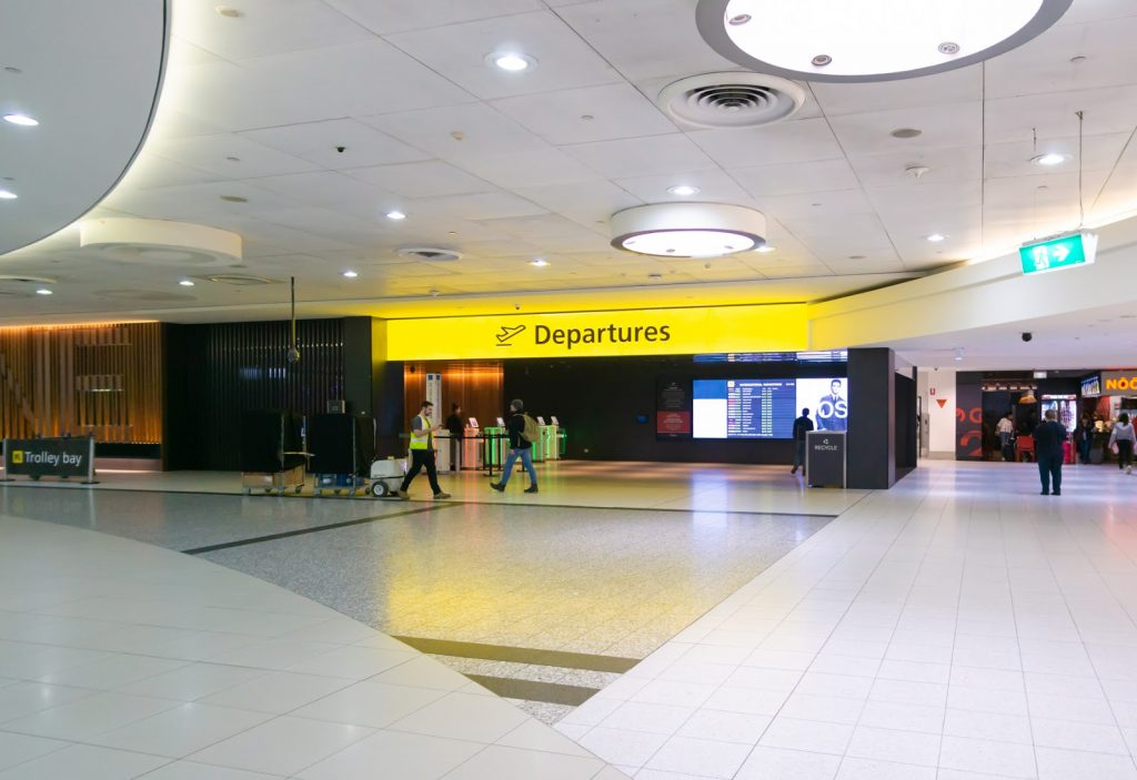 Melbourne airport departure area
