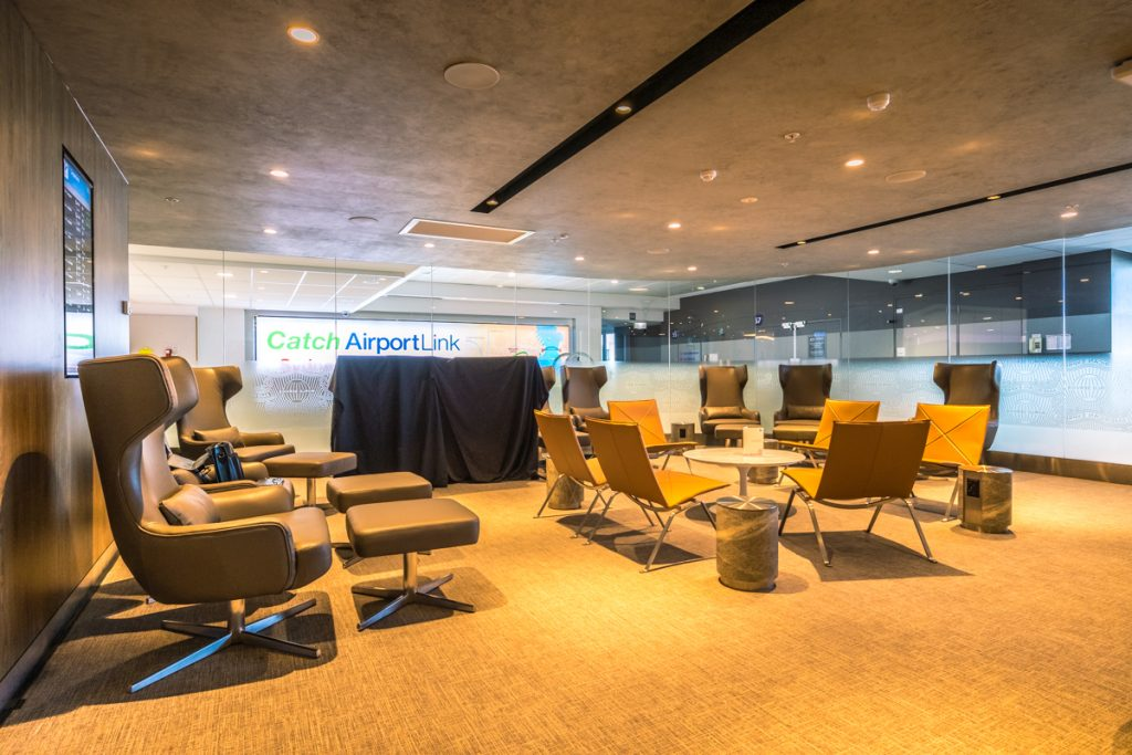 New American Express Lounge Sydney chairs