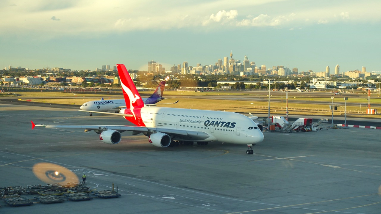Qantas A380 on tarmac